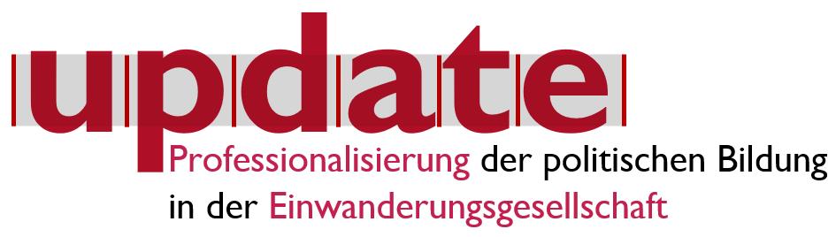 """Logo des Modellprojekts """"Update!: Professionalisierung der politischen Bildung in der Einwanderungsgesellschaft"""""""