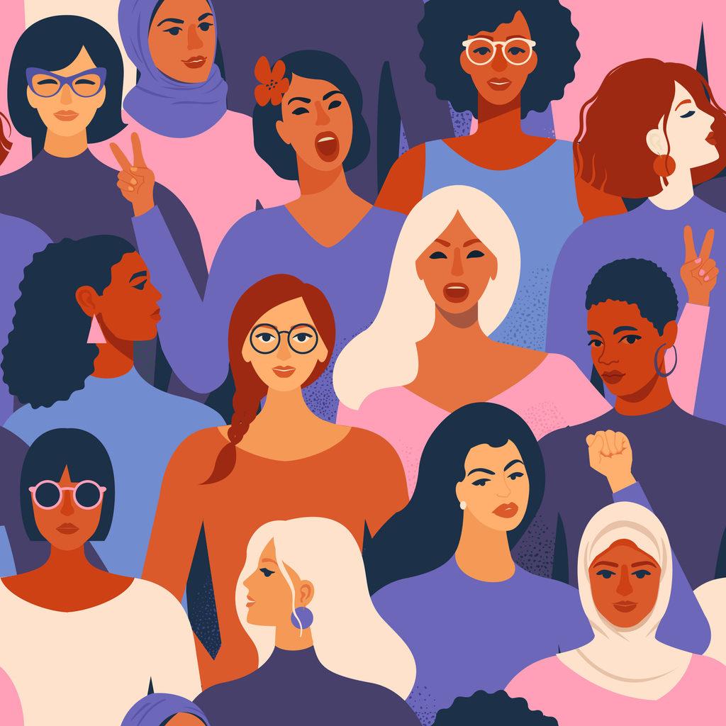Symbolbild: Verschiedene Menschen, die als weiblich gelesen werden können.
