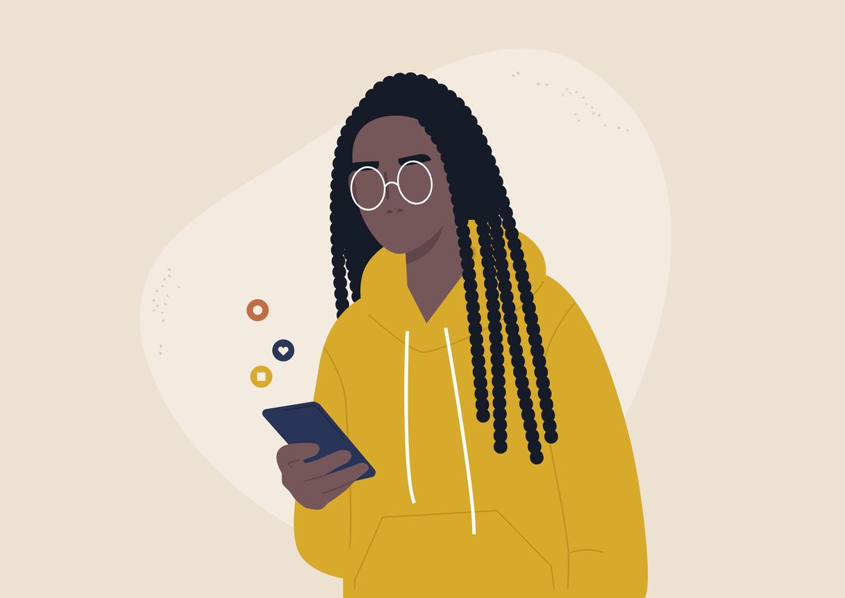 Symbolbild: Person benutzt ein Smartphone.