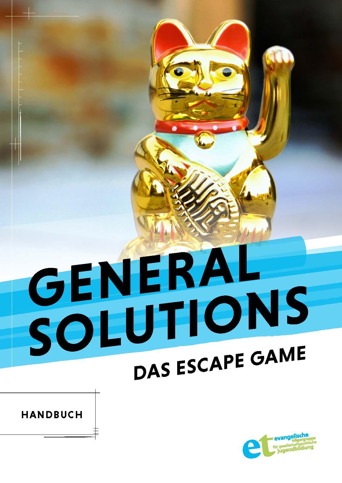 """Cover des Methodenhandbuch """"General Solutions - Das Escape Game"""""""