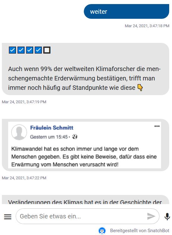 Screenshot: E-Bert, Politische Bildung im Chat