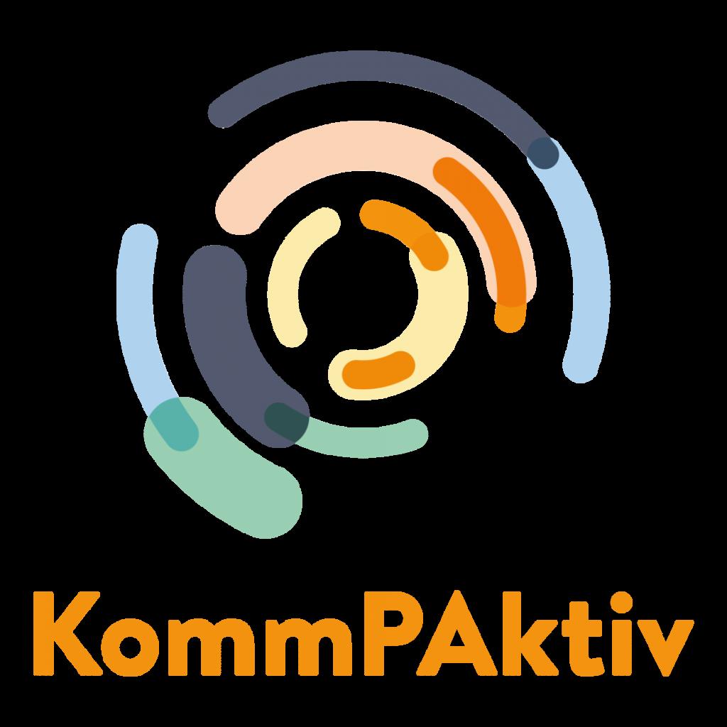 Logo: KommPAktiv – Kommunale Integrationsbeiräte qualifizieren, Demokratie stärken (Bundeszuwanderungs- und Integrationsrat)